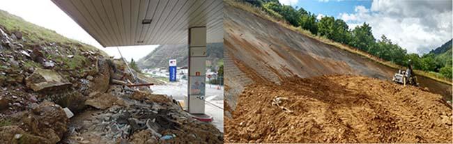Soluciones constructivas para la estabilización de un deslizamiento - Orbis